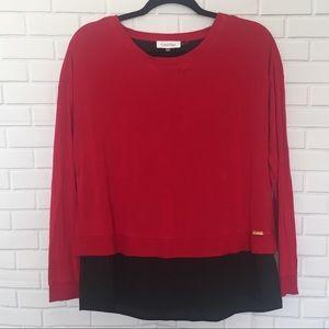 Calvin Klein Red & Black Top